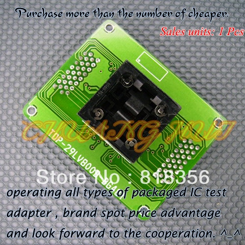 TOP-29LV800B-BG48T Programmer Adapter BGA48 IC Test Socket
