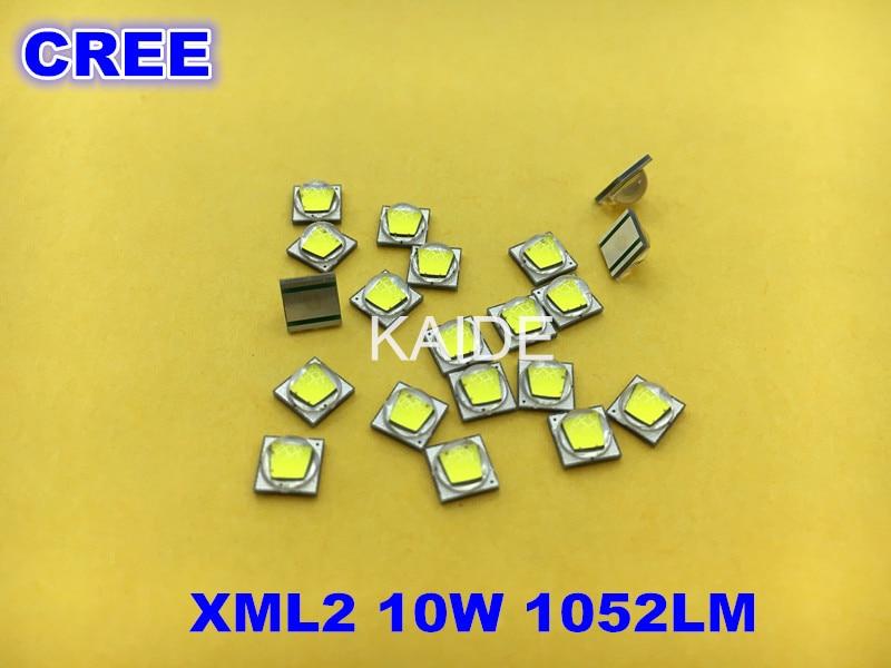 Cree xml2 t6u2u3 led diy diodo linterna cree faro Luz de bicicleta coldwhite neutralwhite blanco cálido auténtico original 10 unids/lote