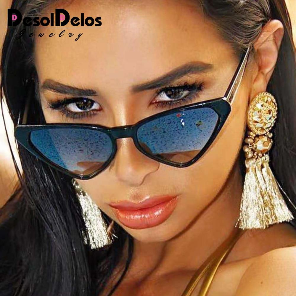 2019 Модные солнцезащитные очки Женские винтажные очки кошачий глаз женские очки в стиле ретро солнцезащитные очки с УФ-защитой женские очки ...