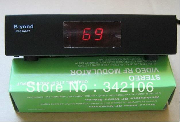 Free Shipping!  1pcx RF207 U-band modulator RF modulator AV converter turn RF