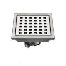 Joint deau en acier inoxydable AZOS SUS304   Joint sur leau peu profonde, salle de douche, drainage rapide, déodorant/drainage rapide, rectangulaire 110*110mm