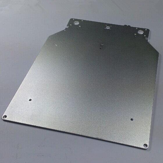 Ultimaker 2 Mesa de Impressão Placa de Base para DIY ultimaker impressora 3D Liga de Alumínio Tratamento de Oxidação de Superfície 303.5*257*4mm