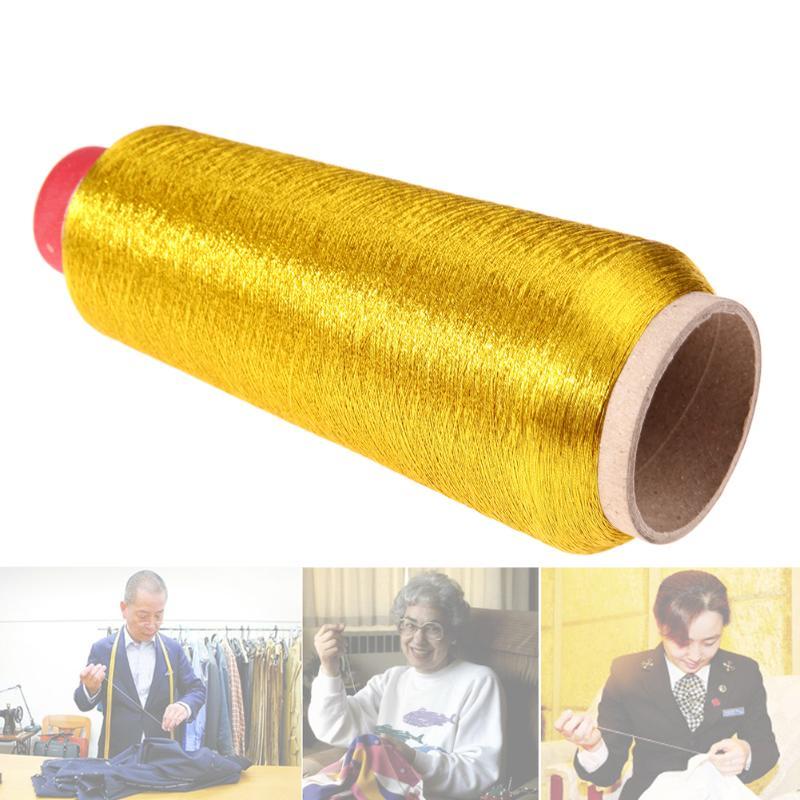 Linha da máquina de costura do overlock durável do bordado do ponto transversal do computador linha tecida do fio metálico de matéria têxtil