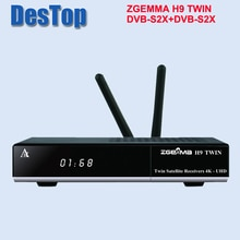 2019 New 4K UHD Set Top Box ZGEMMA H9 TWIN Linux OS E2 Dual Core Ci+ Satellite Receiver DVB-S2X+S2X Twin Tuners 2pcs