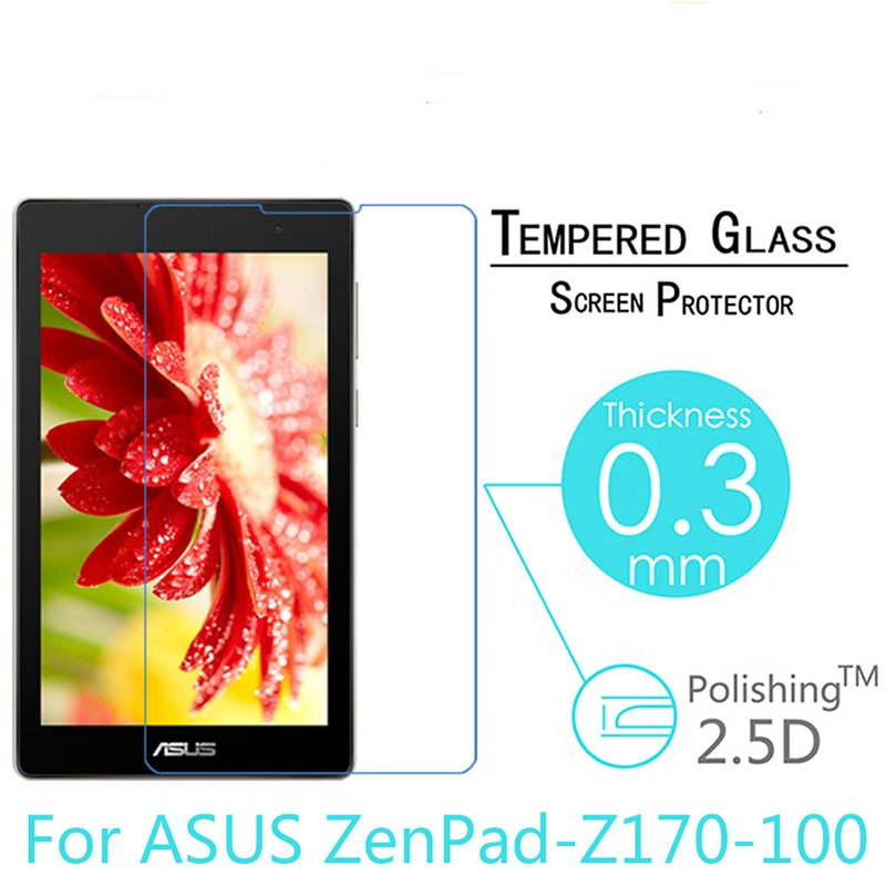 Tempered Glass For ASUS ZenPad C 7.0 Z170 Z170CG Z170CX Z170C P01Y P01Z Screen Protector 7 inch Tablet Protective Film 9H 0.3mm 9h tempered glass for asus zenpad 8 0 z380 z380c z380m z380kl screen protector 8 inch tablet protective glass film guard premium