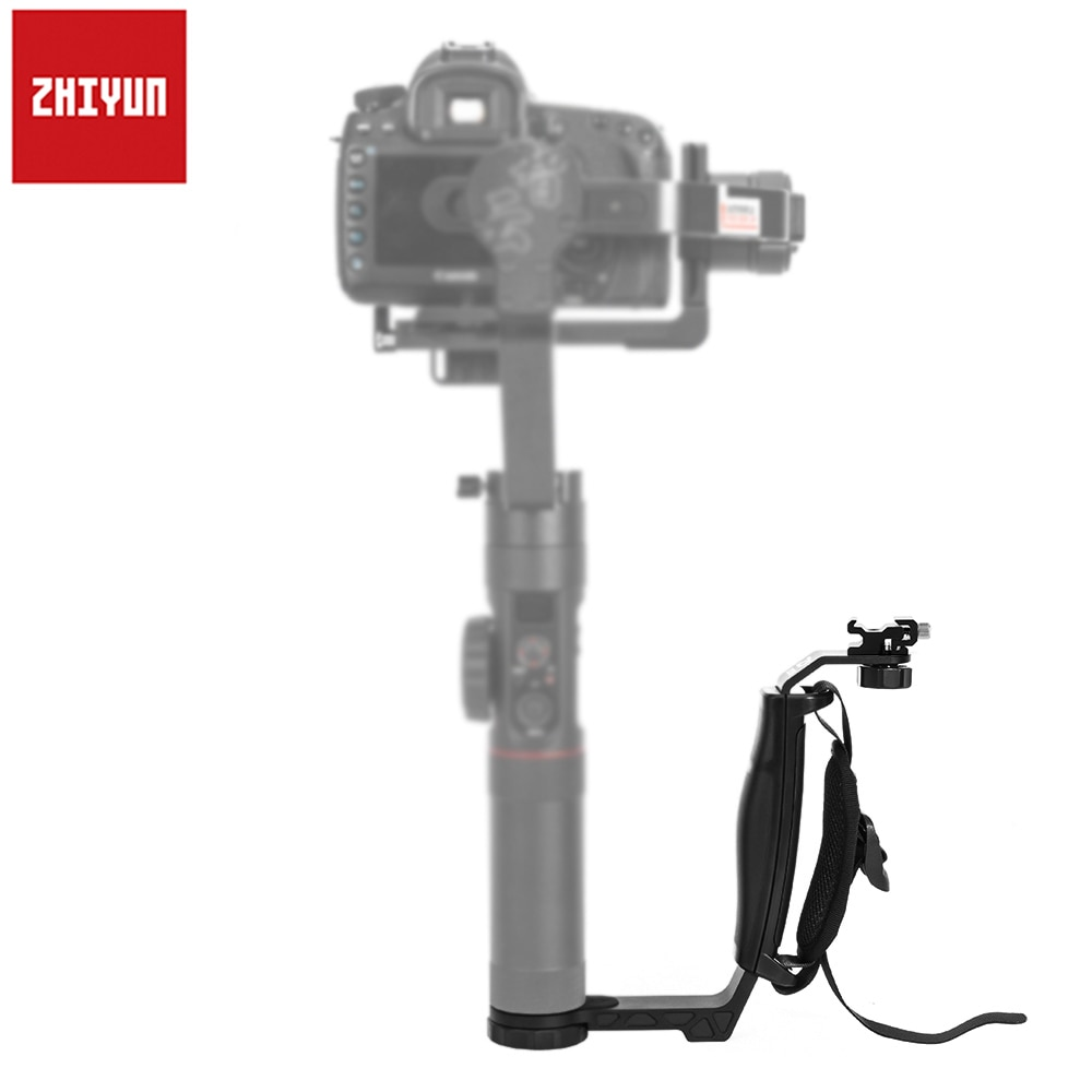 Zhiyun Crane/Guindaste 2 L bracket Pega com Sapata Fria para Microfone Monitor de Luz que tem 1/4 Conector porta Dupla Titular