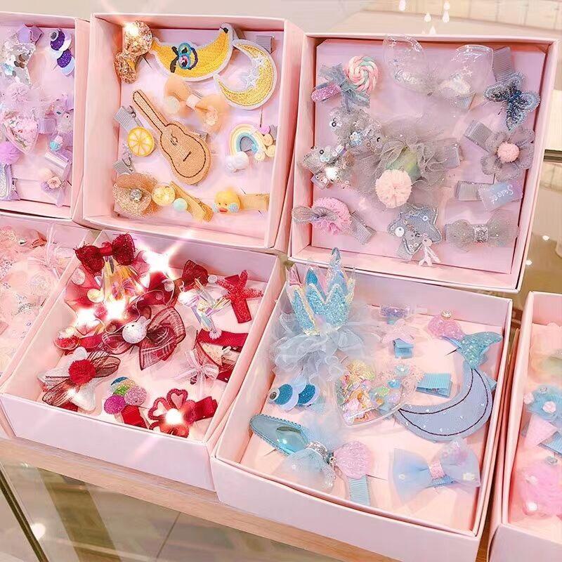 10pcs baby headdress Korean style crown swan hair clips for girls kids toddlers various children hairpin girls hair accessories