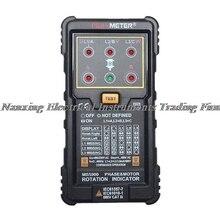 Expédition rapide MS5900 3 testeur de séquence de compteur de moteur indicateur de Phase de Rotation de champ de LED