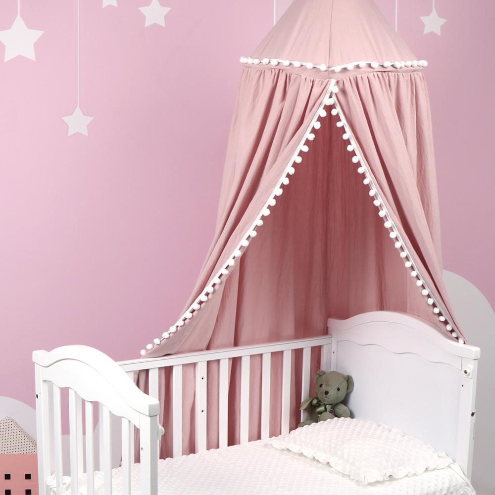 Детская кровать для принцессы, детская кровать, круглая купольная детская комната, Игровая палатка, подвесное украшение для дома, НОК для чт...