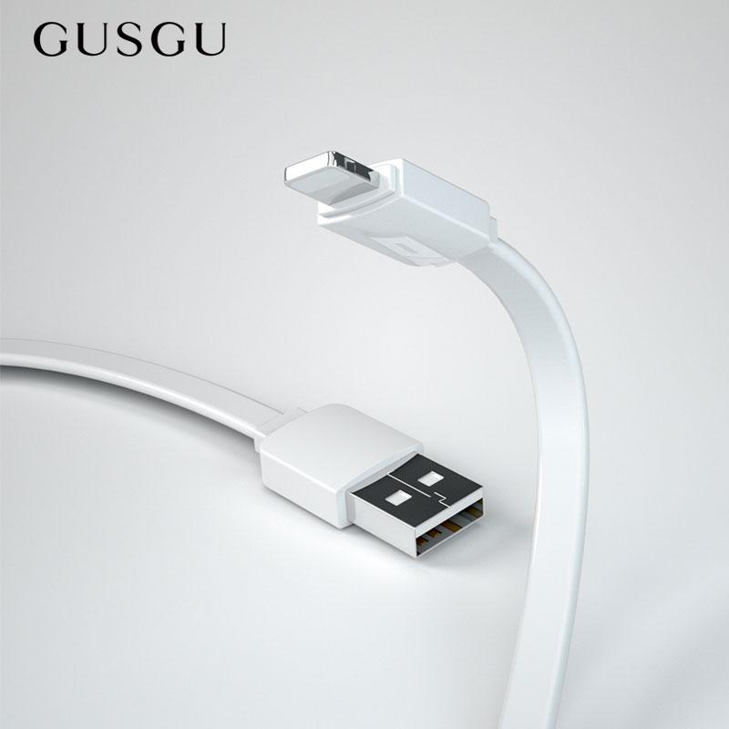Cable cargador USB de carga rápida GUSGU 5V para iPhone X 8 8 Plus Cable de iluminación de teléfono móvil para iPhone 6 6S 5 5S SE Cable de datos