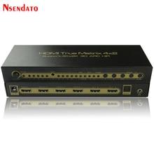 Répartiteur de commutateur HDMI 4K * 2K 30Hz HDMI True Matrix 4X2 pour LPCM7.1 DTS Dolby ARC SPDIF 4 en 2 sorties HDMI 2CH extracteur Audio 5.1CH