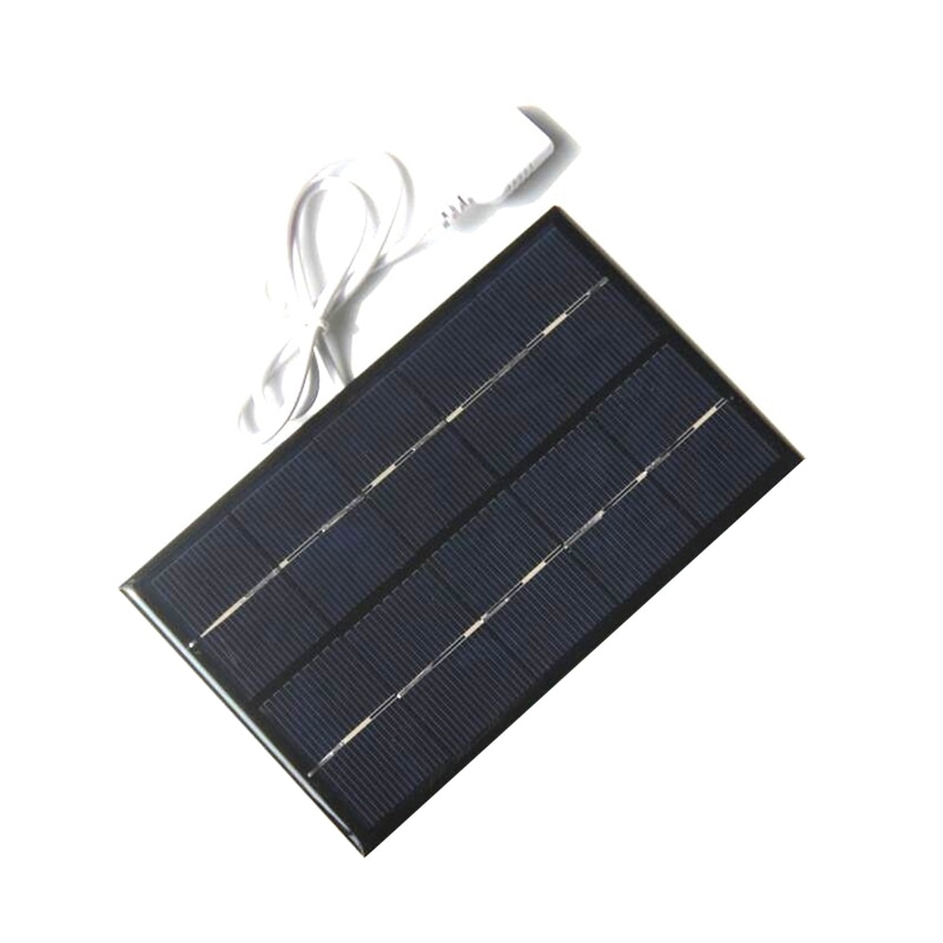 USB Solar Panel Outdoor 5W 5V Portable Solar Charger Pane Climbing Fast Charger Polysilicon Tablet Solar Travel