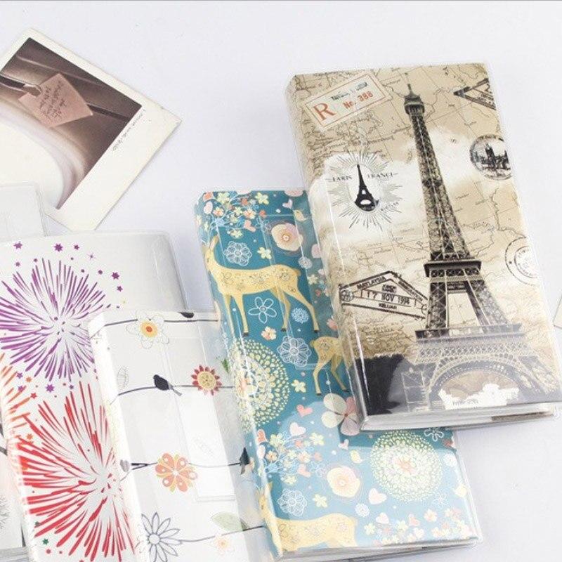 Difuso 84 bolsillos Mini álbum de fotos colección de fotos para 3 pulgadas Polaroid Fuji Instax Mini 9/8/70 / 7s / 50s / 90