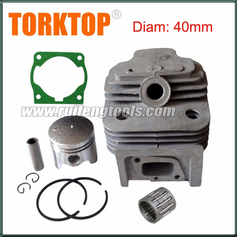 1x CG430, 40F-5 engine  brush cutter cylinder piston  KITS 40MM 43cc cylinder