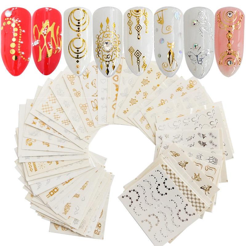 30 шт./компл. дизайн ногтей водный дизайн Искусственные перья цветочный узор наклейки для ногтей украшения для ногтей маникюрный Декор