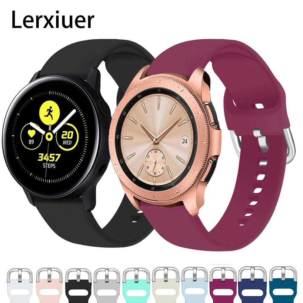 For Samsung Galaxy watch 46mm 42mm active 2 strap 20mm 22mm Gear s3 amazfit bip watchband Accessories Galaxy watch bracelet