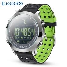 Diggro EX18 reloj inteligente para hombre, reloj deportivo para hombre, 5ATM, impermeable, Bluetooth, reloj inteligente, podómetro, recordatorio de llamada, cronómetro para Android IOS
