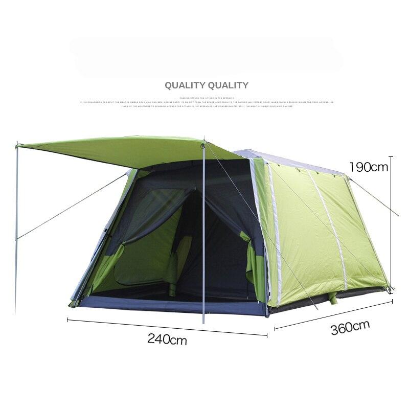 Tienda grande y especial para acampar al aire libre Landwolf, 2 habitaciones para 5-8 personas, gran familia, fiesta, viaje, equipo, tienda de campaña al aire libre multijugador