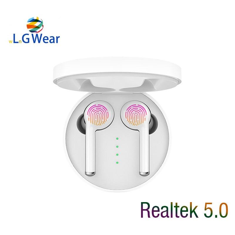 Nuevos Auriculares Bluetooth Realtek 5,0 auriculares inalámbricos auriculares deportivos para correr auriculares táctiles Resolución de ruido para teléfonos pendientes ESTÉREO