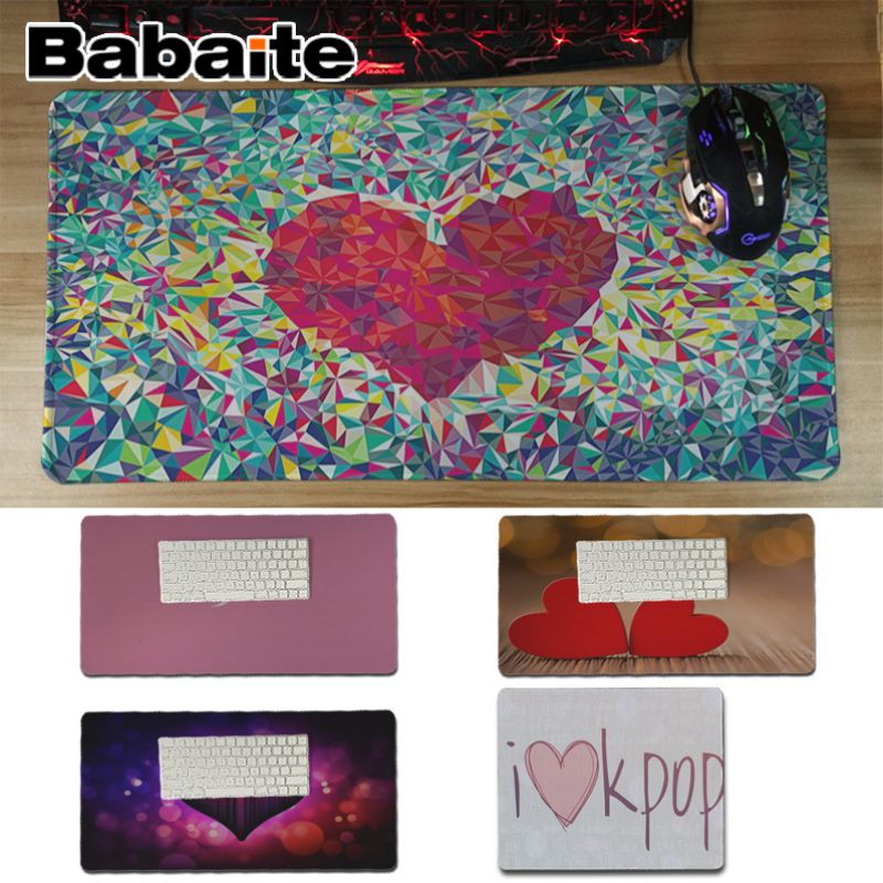 Babaite Love kpop heart drawing Rubber Mouse Durable Desktop Mousepad Keyboards Mat Rubber Gaming mousepad Desk Mat