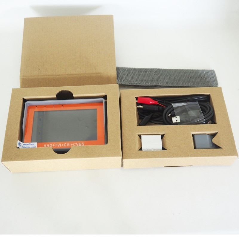 New Version 4.3 Inch Coaxial HD Camera Tester IV7W 5MP AHD TVI CVI CVBS CCTV Camera Tester Monitor with UTP PTZ Audio test enlarge