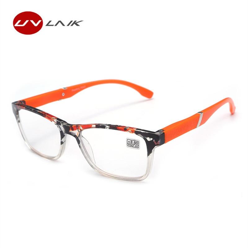 UVLAIK mode hyperopie lunettes de lecture hommes femmes résine lentille presbyte lunettes de lecture 1.5 + 2.0 + 2.5 + 3.0 + 3.5 + 4.0 + +
