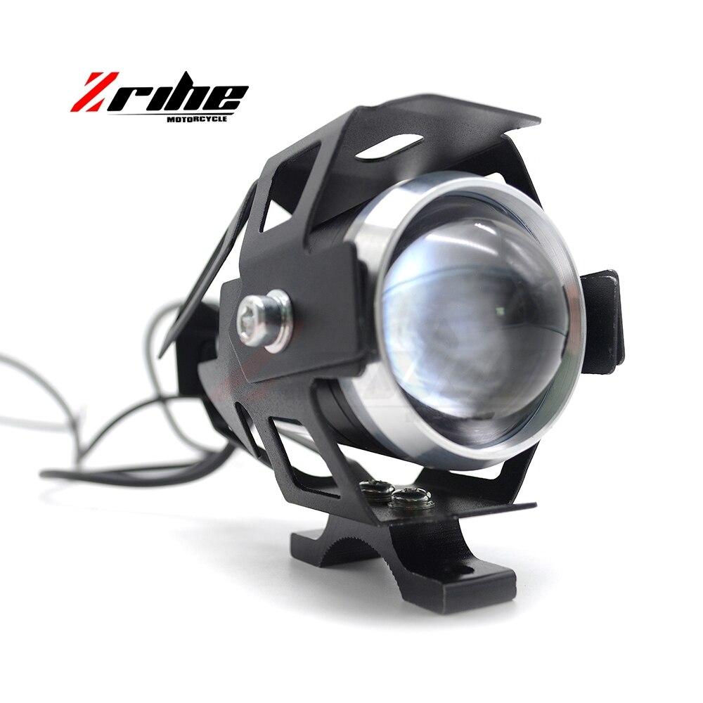 Светодиодный светильник для мотоцикла 125 Вт, 2 шт., водонепроницаемый светодиодный противотуманный светильник, чип 3000LM U5, фара для вождения м...