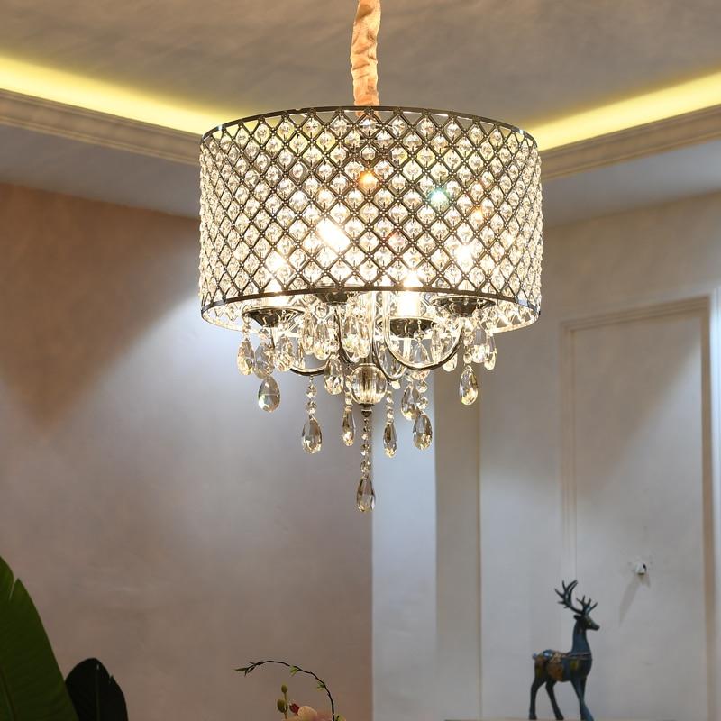 Moderno araña de cristal led iluminación comedor accesorios habitación colgando luces lámparas colgantes para la habitación