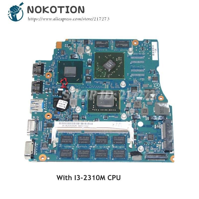 NOKOTION placa base de Computadora Portátil para Sony Vaio PCG-41218M VPCSB A1820699A MBX-237 1P-0114J00-A011 Tablero Principal I3-2310M CPU HD6470M