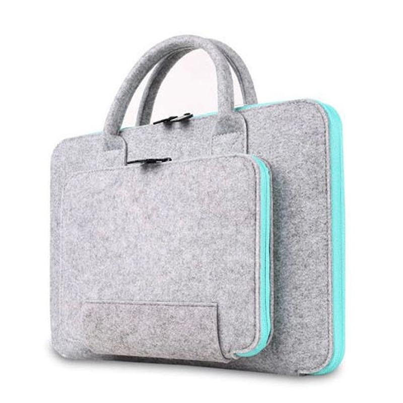Bolso de mano para hombre y mujer, maletín para portátil, 11 14, bolsa para Mackbook Air Pro Retina 13 15, funda para Xiaomi Lenovo ASUA 17,3, funda para portátil