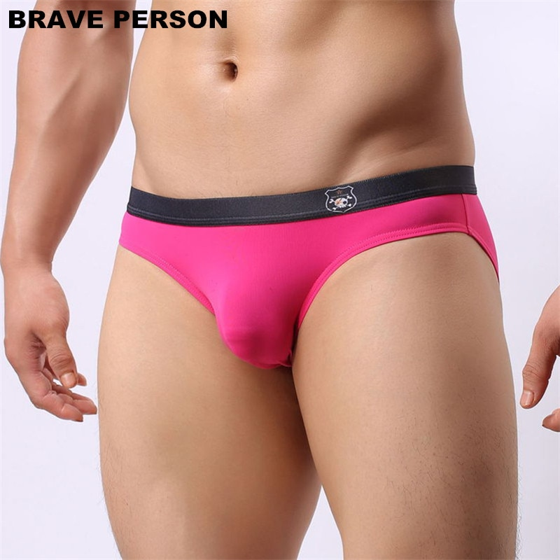 Brave Person Underwear Men Sexy Briefs Pouch Mens Bikini Briefs Nylon Seamless Panties Bulge Gay Underpants Lingerie Slip Homme men s boxer men four corner underwear 2017 underwear men nylon mens bodysuit underwear sous vetement homme sexy brave person