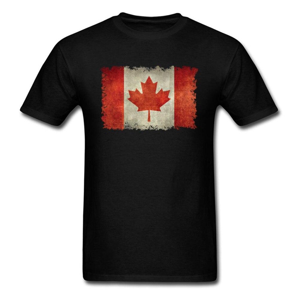 100% algodão camisa de algodão t camisas frescas à venda bandeira canadense no vintage grunge legal manga curta topos camisas da tripulação do verão