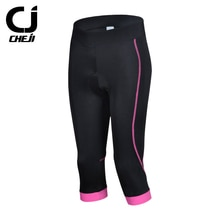 Cheji 3D GEL Padded Bike Shorts Women 3/4 Cycling Shorts Compression Lycra Shorts Bicycle Riding Sports maillot