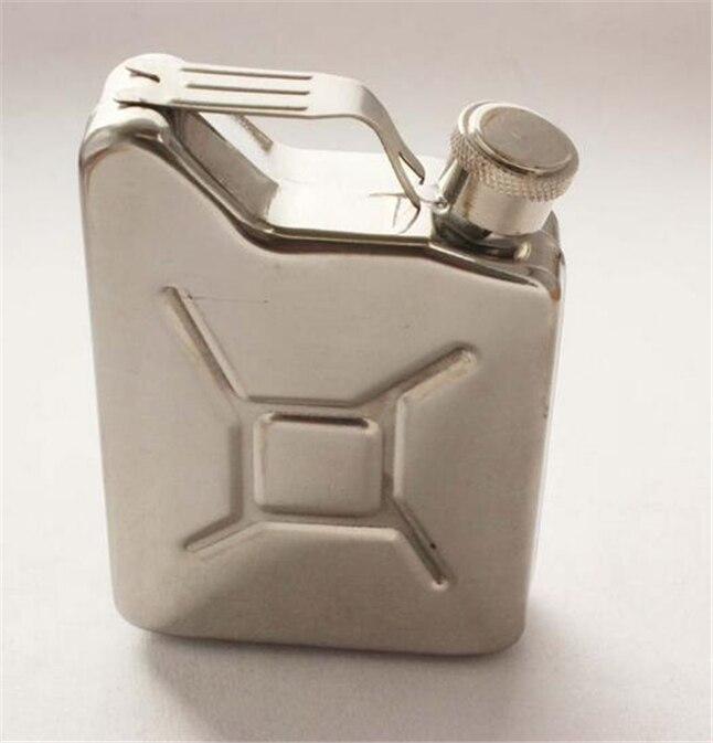 5 унций Портативный Путешествия нержавеющая сталь фляга для вина горшок из нержавеющей стали джерриканского топлива бензин Can D5