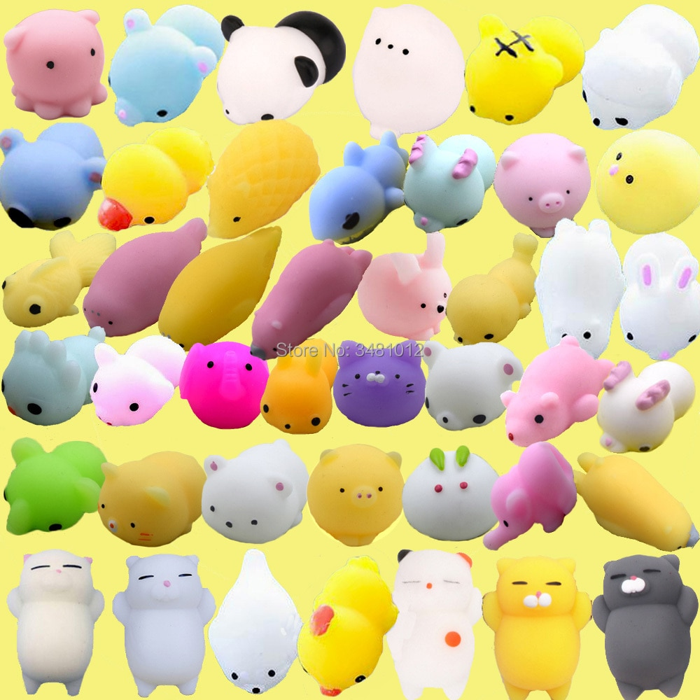 30pcs/pack Squishy Animals Set Cat Shark Antistress Kawaii Chick Squishes Anti stress Squeeze Slow Rising Squishies Funny Toys enlarge