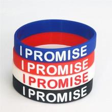 1 stück Neue ICH Versprechen Basketball Sport Silikon Armband Power Bands Energie Gummi Armbänder & Armreifen Für Männer Frauen schmuck SH053
