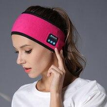 Wireless Bluetooth Kopfhörer Schlaf Stirnband Hut Weiche Warme Sport Smart Kappe Smart Lautsprecher Stereo Schal Headset mit Mic