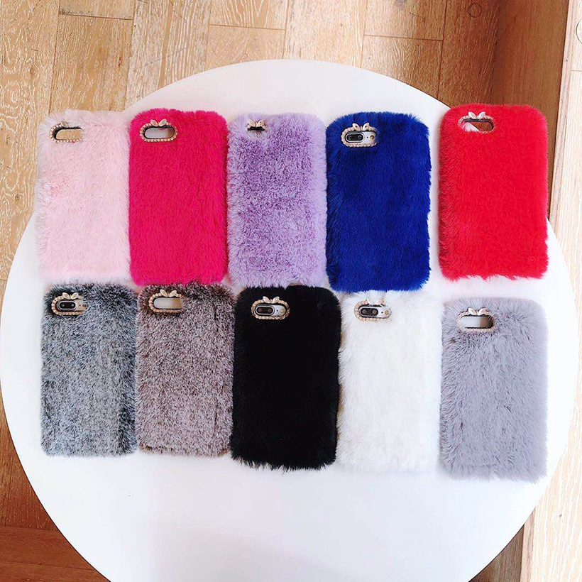Carcasas de conejo para Samsung Galaxy A3 A5 A7 j3 Pro j5 j7 2017 2016 2015 J1 Mini Prime ACE j2 Core cubiertas cálidas de piel de conejo