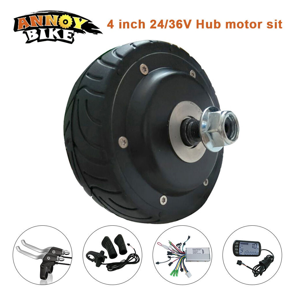 Motor wheel 4 inch E bike hub motor Modification kit for Scooter Motor Brushless Toothless Electric bicycle Engine Wheel Motor