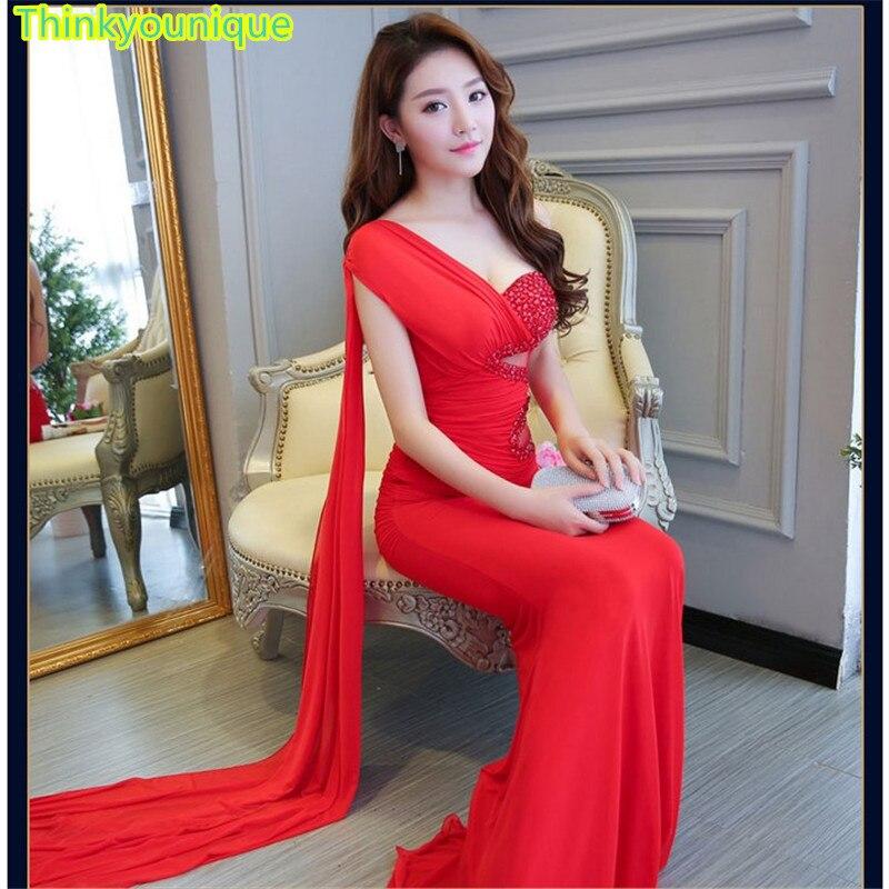 Un hombro Vestido de Fiesta Formal vestido de Noche Largo vestido de...
