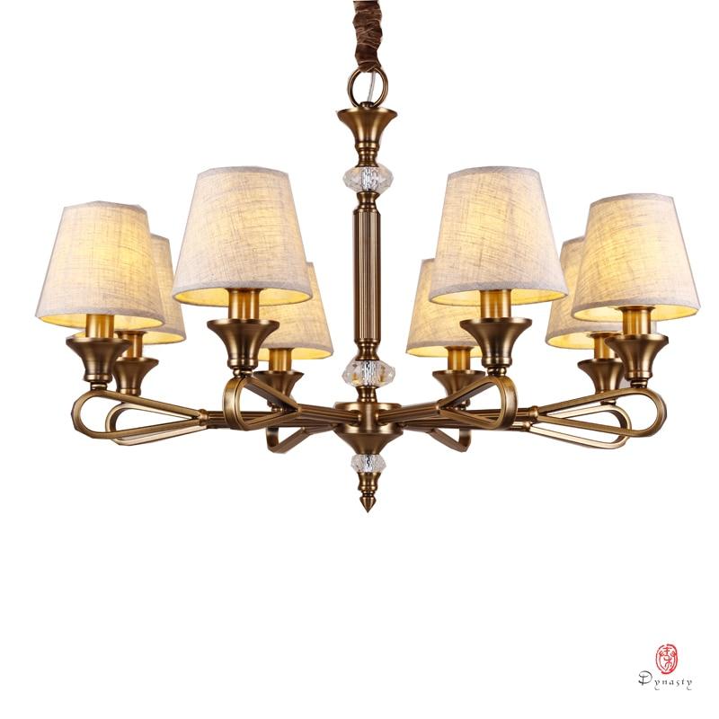 Элегантные подвесные латунные люстры E14, современный железный светильник для дома, фойе, гостиной, прямые продажи с завода