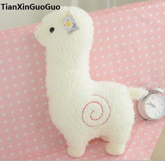 Adorable alpaca blanca de 35cm juguete de peluche suave muñeca Regalo de Cumpleaños b2646