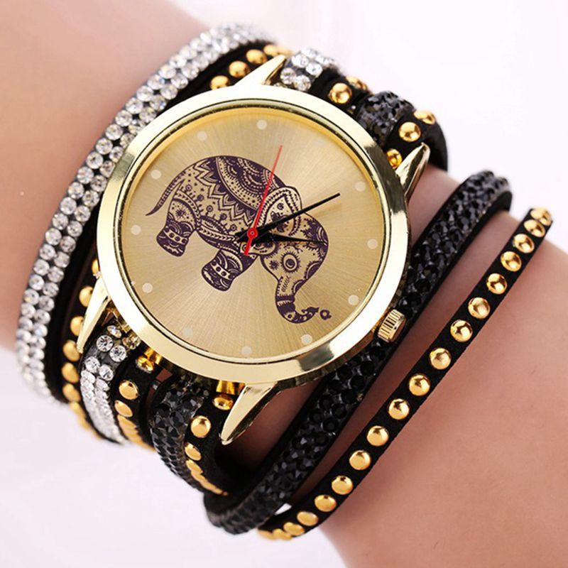 2018 mode éléphant motif Bracelet femmes montres dames femmes robe classique bijoux Quartz montre-Bracelet Reloj Mujer livraison gratuite
