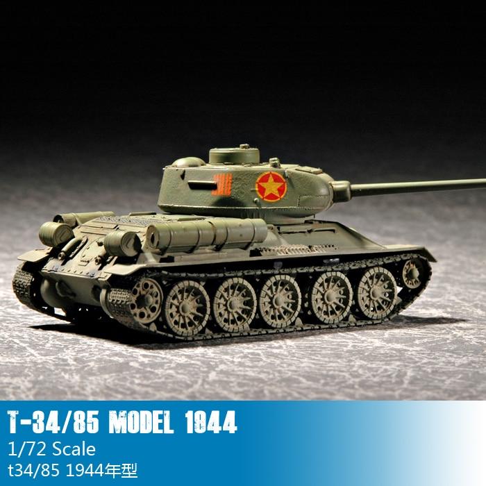 Trompeta 07207 1 72 T-34 soviético/85 tanque mediano 1944. Asamblea modelo