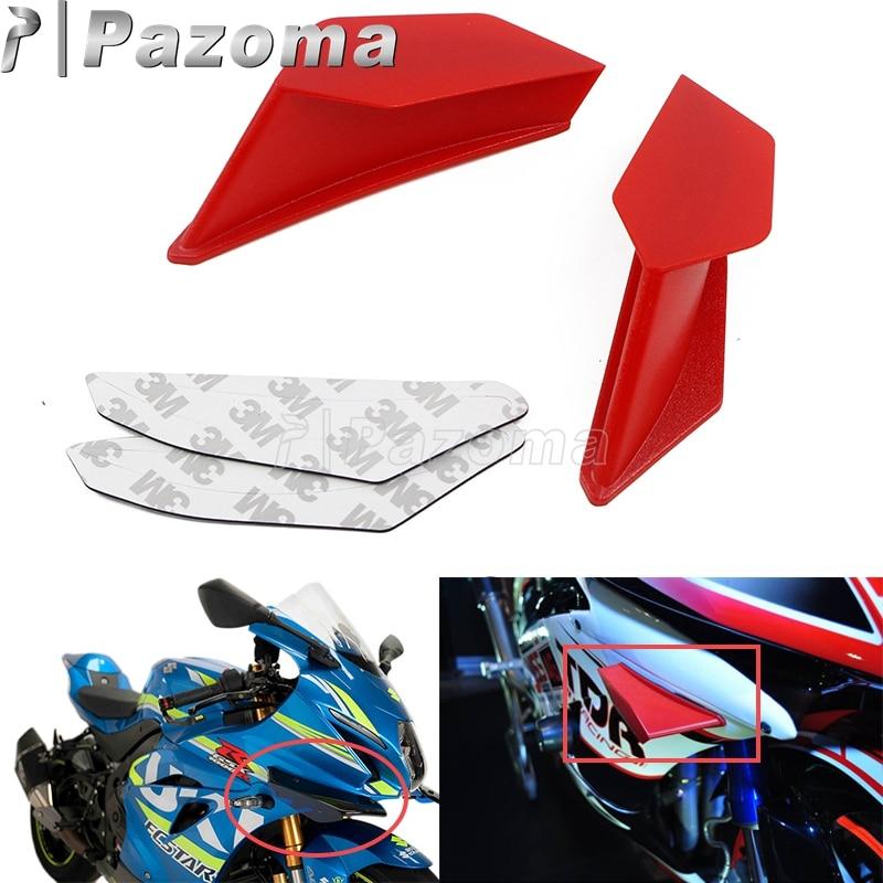 Delantero de la motocicleta carenado aerodinámico aletas dinámica Kit de alas para BMW Honda Yamaha Kawasaki Nmax Aerox 155 PCX Vario CBR R3 R25