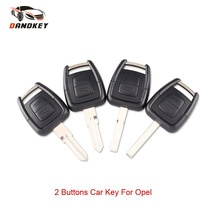 DANDKEY-porte-clés coque de voiture 2 boutons   Pour Vauxhall Opel Astra H J Zafira mokka Omega Vectra (lame/HU46/HU43/HU100)
