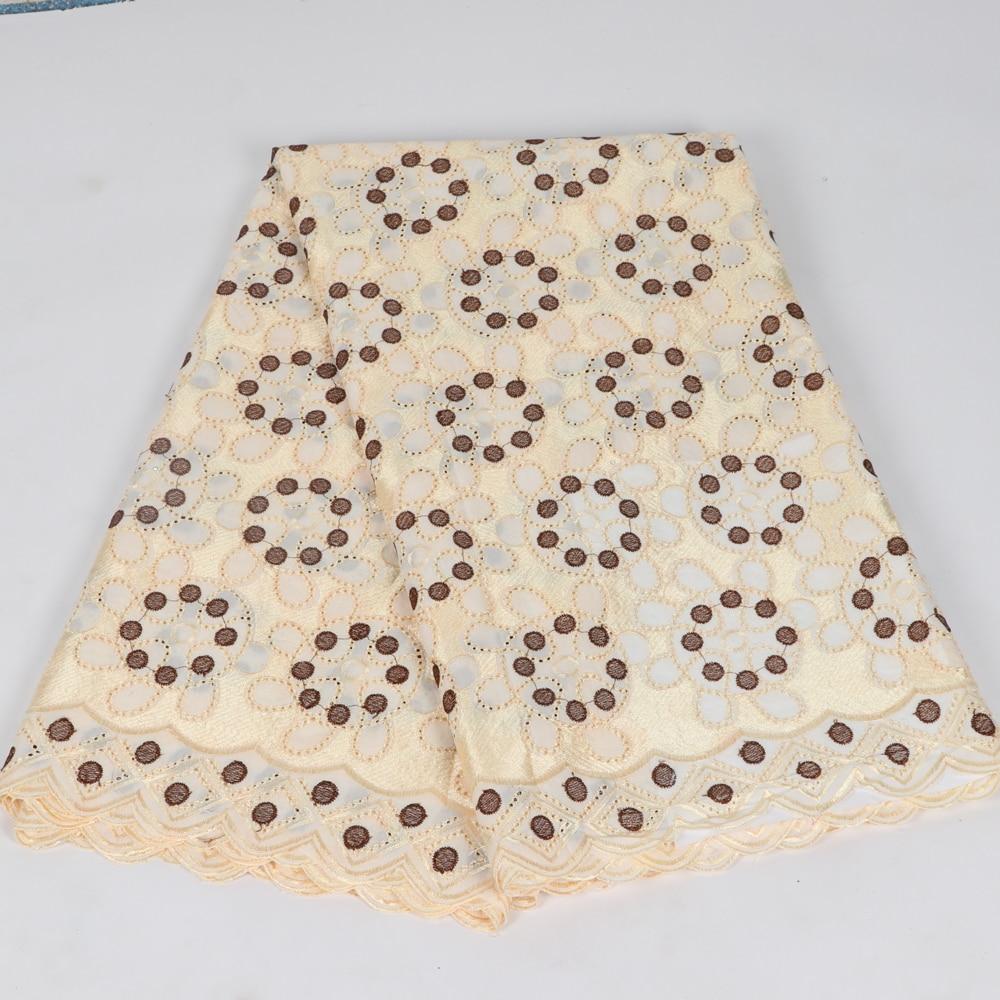 Tela barata encaje de gasa suizo africano de alta calidad tela de encaje de boda 100% encaje suizo de gasa de algodón en Suiza S34-2