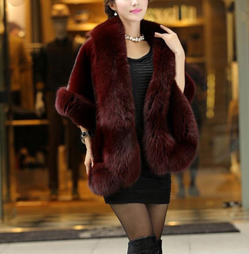 Otoño/Invierno 2020 chal de piel de zorro para mujeres abrigos largos slim fit Piel de visón capa tendencia suave temperamento señora alta calidad