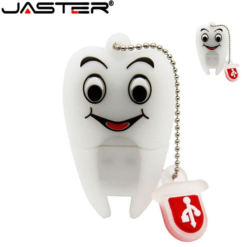 JASTER ручка привода подарок зубы Милая модель 8 ГБ/16 ГБ/32 ГБ/64 ГБ Usb флэш-накопитель, зуб Флэш-Памяти Флешка дантист U диск