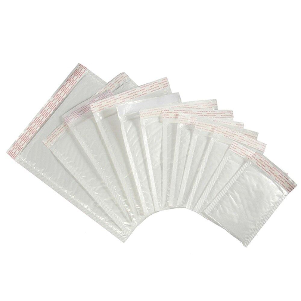 Saco celofane de plástico auto-adesivo, saco branco para embalagem de espuma, saco à prova de umidade para vibração, 10 pçs/lote 16 tamanhos